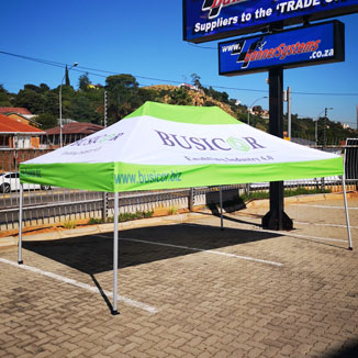 Just flags and banners and other branded display media supplier to the industry,