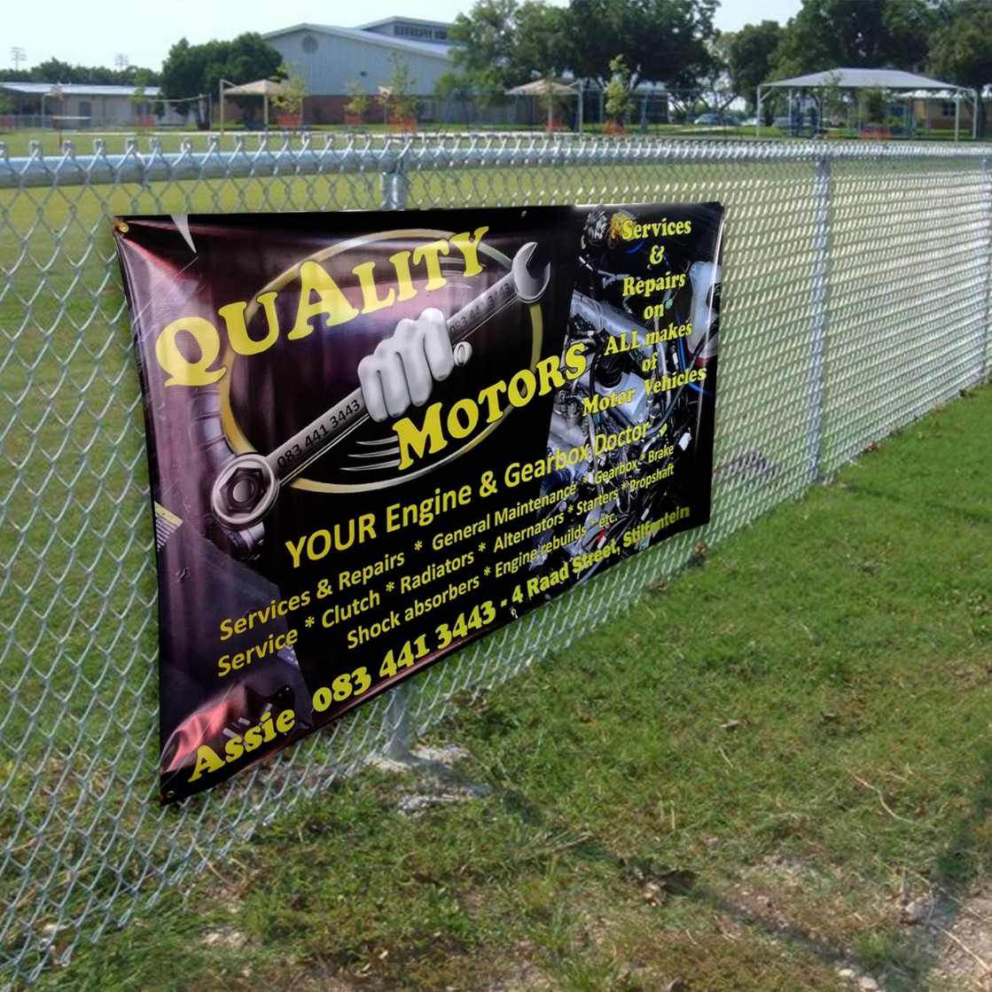 Fence wraps and PVC banners sold at below market related prices.