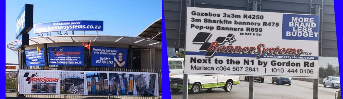 We print and manufacture budget banners and just about all ather display products in-houe.